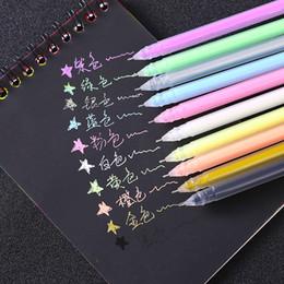 Colori di caramelle In evidenza Cartone nero Pastello Album FAI DA TE Penna fluorescente Pittura Graffiti Penna a mano WJ070 in Offerta