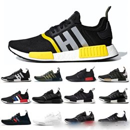 Pvc military online shopping - 2019 Thunder NMD R1 Mens Running Shoes Military Green Oreo Atmos Bred Tri Color OG Classic Men Women Mastermind Japan Sports Trainer Sneake