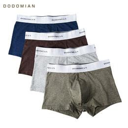 $enCountryForm.capitalKeyWord Australia - 4pcs\lot Male Underwear Dodomian Elastic Wide Belt Men Underpant Solid Cotton Panties Model Boxer Sexy Plus Size Boxer SH190701