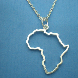 Egypt Pendants Australia - 10 hollow Africa Map Necklace Egypt South Africa Kenya Nigeria Map Africa Pendant Necklace Jewelry Hometown Lucky Clavicle Necklace