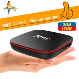 Media Player Australia - 2019 Cheapest M9S T3 Android smart Tv Box Quad Core 2GB 16GB H3 Chip Support Wifi 4K 3D Media Player set top Box Better TX3 X96 MINI T95Q