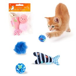 Pack Plays Australia - 3pcs pack Cat Toys Set Mini Intellectual Original Play Interactive Toy Fish Colorful Balls Funny Playing Toys Cats Kitten