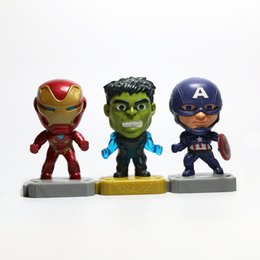 Free Marvel Toys Australia - 3 Styles Avengers Toys Marvel Iron Man Green Giant Captain America Figures 10 cm kids toys free shipping