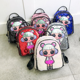 Discount green travel backpack - 2019 New Glitter Women Sequins Backpack Teenage Girls Travel Large Capacity Backpacks Bags Bling Rucksack Children Schoo