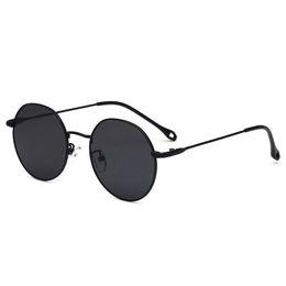 Опт Круглые металлические очки женские модные черные серые солнцезащитные очки мужские солнцезащитные очки защита от ультрафиолетовых лучей несколько стилей