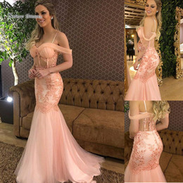 $enCountryForm.capitalKeyWord Australia - 2019 Sexy Mermaid Spaghetti Backless Appliques With Beads Evening Wear In Stock Hot Sales High-end Occasion Dress