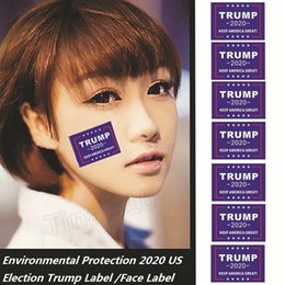 PeoPle window stickers online shopping - Hot Environmental Protection US Election Trump Label Sticker Face to chest Sticking and Self adhesive Composite Window Stickers