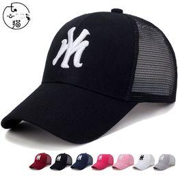 $enCountryForm.capitalKeyWord Australia - New NY Embroidery Baseball Cap Unisex Adult Cotton Mesh Hat Snapback Trucker Punk Hip Hop Cap Summer Fashion Sun-proof Sport