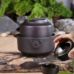 $enCountryForm.capitalKeyWord Australia - China tea set black tea pot cup yixing purple clay kung fu tea set for travel