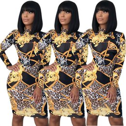 Wholesale Spring Women Clothes Sexy ss Dresses Designer Floral Printed Dress Bodycon Design Female Vestidoes