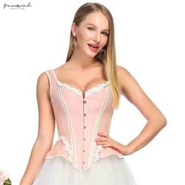 Floral corsets online shopping - Victorian Corset Elegant For Steampunk Overbust Corsets Floral Lace Floral Pattern Bustier Tops Slimming Costume Women Drop Shipping