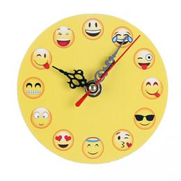 $enCountryForm.capitalKeyWord Australia - yellow wooden Desk Clocks digital decorative Emoji table clock creative living room bedroom decorative cartoon wall clock wholesale