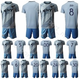 man city soccer jerseys NZ - Sporting Kansas City 2020 Men Soccer 5 Matt Besler Jersey Set 7 Johnny Russell 24 Gedion Zelalem 8 Graham Zusi Football Shirt kits
