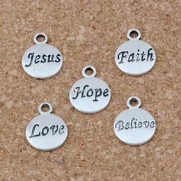 Hoffnung glauben liebe glauben jesus charms anhänger 100pcs / lot 11.5x15.5mm antike silberne modeschmuck diy fit armbänder halskette ohrringe a-23