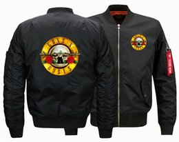 men suits guns 2021 - 2019 Autumn and Winter Jacket Men's Jacket GUNS N ROSES One Flight Flight Suit