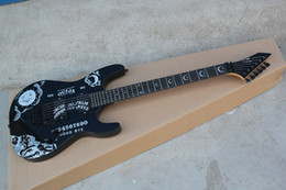 $enCountryForm.capitalKeyWord Australia - High quality Custom Shop Ebony KH-2 Kirk Hammett Ouija black Opera Guitar Ebony fingerboard Electric Guitar