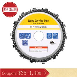 $enCountryForm.capitalKeyWord Australia - 5 Inch 14 Teeth Grinder Chain Disc 22mm Arbor Woodworking Carving Disc for 125mm Angle Grinder and Circular Saw