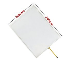 Discount touch screen small - For 12 inch 4 line 4:3 small interface 260*200 Industrial Digitizer Resistive Touch Screen Panel Resistance Sensor