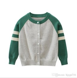 baby boy polo Australia - 2019 Brand New Kids Sweater Autumn Children Polo Cardigan Coat Baby Boys Girls single-breasted jacket Sweaters outer wear 1412