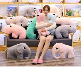 stuffed animal stuffing NZ - 1pc 50cm Simulation Elephant&Crocodile&Hippo Plush Pillow Soft Cartoon Animal Deer&Rhinoceros&Anteater Stuffed Doll Sofa