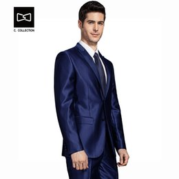Single Piece Dress Designs NZ - 2018 Men Groom Wedding Suit Slim Fit Formal Men Suit Latest Coat Pant Designs Fashion Dress Luxury Tuxedo Men Blazers 2 Pieces Y190420