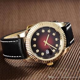 Ladies Luxury Gifts Australia - New Famous Luxury Diamond Leather Watch Christmas Gift For Ladies Women Dress Designer Fashion Black Dial Calendar Mens Watches