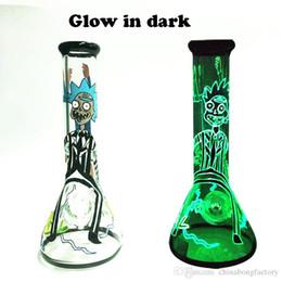 Vente en gros L'eau brillante dans les verres en verre foncés est la meilleure vente de bang bécher de 7 mm d'épaisseur