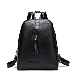 $enCountryForm.capitalKeyWord Australia - Individual2019 Leather Genuine Summer Both Shoulders Woman Package Tassels The Tide Layer Cowhide Backpack Portable Bag