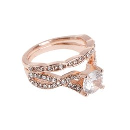 Trendy Christmas Gifts Australia - New Trendy Wedding Ring Women Jewelry Rose Gold Fashion Shiny High End Delicate Bridal Supplies Decoration Rings Christmas Gifts