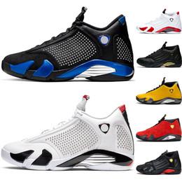 $enCountryForm.capitalKeyWord Australia - AirJordanRetro 14 2019 Hot Sale Candy Cane 14s Men Basketball Shoes Black Mens Trainer Athletic Sport Sneaker Walking Shoe 41-47