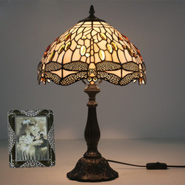 Led Lamps 12 Inch Stained Glass Table Lamp High Quality European Style Dragonfly Lamps Shade Lamp Living Room Bedside Stand Lamp Bar Light Buy One Get One Free