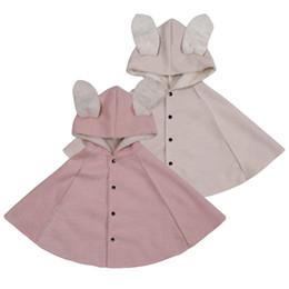 b2687e56eb54b2 2019 Winter Kinder Mädchen Cape Jacke Strickjacke Rosa 100% Baumwolle  Mädchen Mantel Für 1 2 3 4 Jahre Alte Kinder Kleidung RKC195001