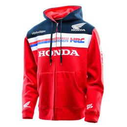 Nuevos Hombres Mujeres MOTO GP Para Honda HRC Racing Zipper Hooded Hoodie Moda Hombres Chaqueta Envío Gratis