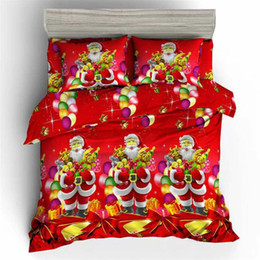 $enCountryForm.capitalKeyWord Australia - 3D Classic Celebrate Merry Christmas bedding Sets Hot Sale duvet cover set Twin Full Queen Size holiday gifts