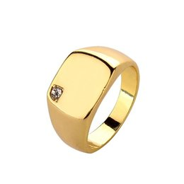 Punk Rings UK - Men Crystal Band ring hip hop rings male jewelry casting punk man personality