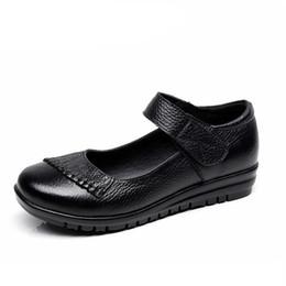 $enCountryForm.capitalKeyWord Australia - New Handmade Genuine Leather Women's Ballet Flat Shoes Female Casual Loafers Woman Comfortable Car-Styling Shoe Mom Walking Shoe