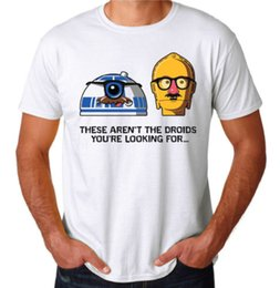 Shirts For Geeks NZ - Wholesale Inspired Not The Droids You'Re Looking For Funny Sci-Fi Geek T-Shirt T Shirt Men Harajuku Custom Short Sleeve Cotton Plus Size Tsh
