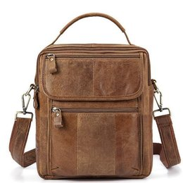 Men s Genuine Leather Mens Handbags Male Crossbody Bags Small Flap Casual  Crazy Horse Skin Messenger Bag Vintage Shoulder Bag a5de561050f39