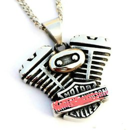 $enCountryForm.capitalKeyWord Australia - MOTORCYLE engine biker pendant harley accessories stainles steel men.s necklaces for free shipping