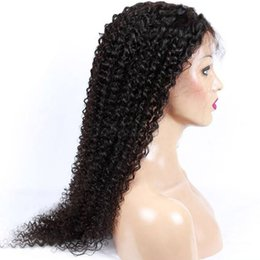 swiss hair products NZ - High Quality Indian Curly Human Hair Wig Affordable Deep Wave Front Full Lace Wigs Cheap Real Virgin Remy Hair Product Brown Swiss Lace