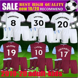 west ham kits 2019 - new 2020 2019 adult men kids West Ham Antonio United soccer jersey kit 19 20 Anderson WILSHERE Chicharito LANZINI ARNAUT