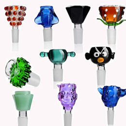 Wholesale stockings for male online – funny Random Color Colorful Glass Bowl mm Male Glass Bowl Smoking Accessories For Hookahs Bong In Stock