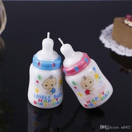 $enCountryForm.capitalKeyWord Australia - Feeding Bottle Candle Cake Decorate Cartoon Happy Birthday Baby Shower Favors One Year Old Party Lovely Hot Sale 3 9sjE1