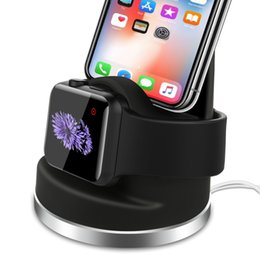 Smart Watches For Iphone Australia - Charging Stand for Apple Watch 4, Airpod iPhone Dock, 2 in 1 Charging Dock for iWatch 4, Charging Station for iWatch Series 4 3 2 1-Black