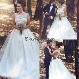 Drop Waist Lace Wedding Dresses Straps Australia - 2019 Vintage Forest Country Wedding Dresses jewel neckline Lace Sleeveless Full Length Long Bridal Gowns Empire Waist A Line Wedding Dress