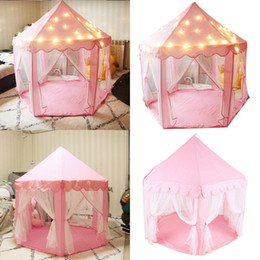 $enCountryForm.capitalKeyWord Australia - New Fashion Girl Princess Tents with LED Lights Kids Gifts Playhouse Children Indoor Games New Fashion Princess Tents with LED Lights