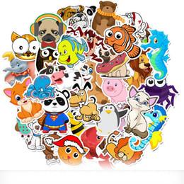 Wholesale octopus cartoon for sale – halloween 50pcs Set Cartoon Animal Crossing Graffiti Octopus Penguin Stickers Waterproof PVC Laptop Guitar Skateboard Luggage Cute Sticker Kids Toy