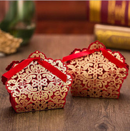 laser cut package Canada - Chocolates Baby Package Laser Candy Bags Hollow Shower Wedding Bags Gifts Cut Lodmx