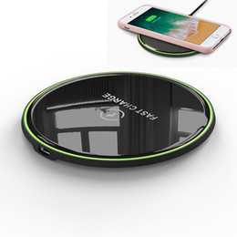 surface pro charger UK - Wireless Charger 10W Fast Charging Overcharge Protection 2.5D curved Glass Surface Wireless Quick Charger For iPhone 11 Pro Max Samsung S20+