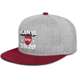 $enCountryForm.capitalKeyWord UK - Kanye-West-2020-President mens and womens flat brim hats burgundy snapback cool hats sports make your own custom your own custom ret